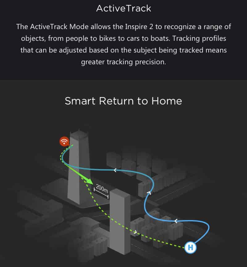 Inspire 2 Drone Specs Active Track JWStuff