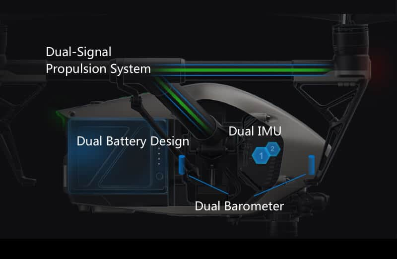 Inspire 2 Drone Specs Dual Propulsion System JWStuff