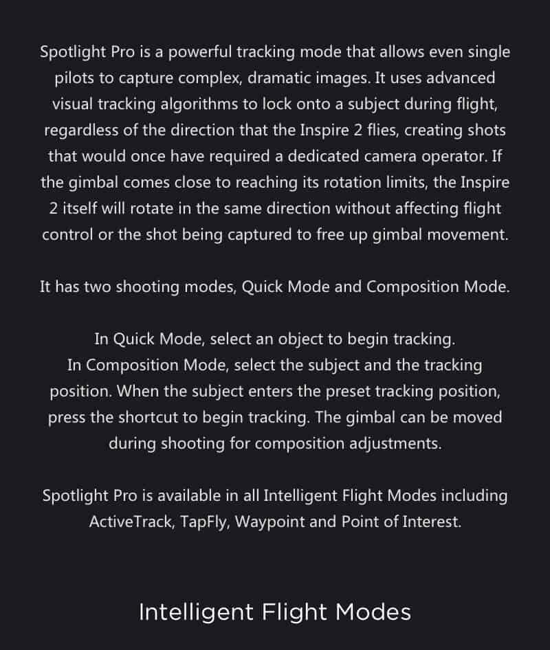 Inspire 2 Drone Specs Spotlight Pro JWStuff 2